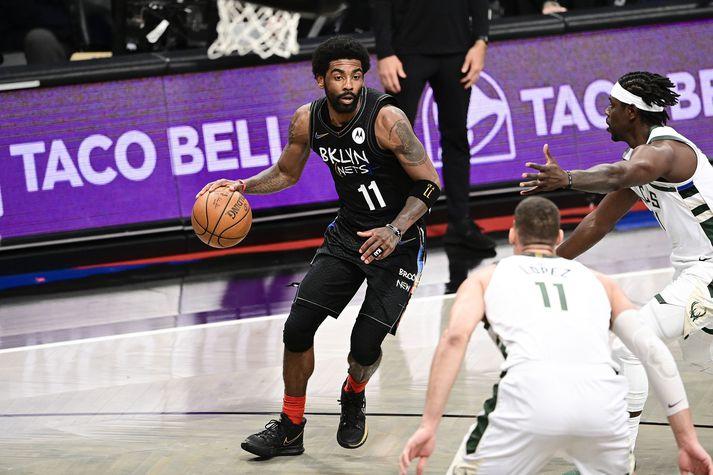 Kyrie Irving er ein af skærustu stjörnum NBA-deildarinnar.