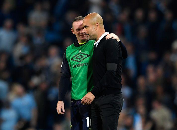 Wayne Rooney og Pep Guardiola á góðri stundu.