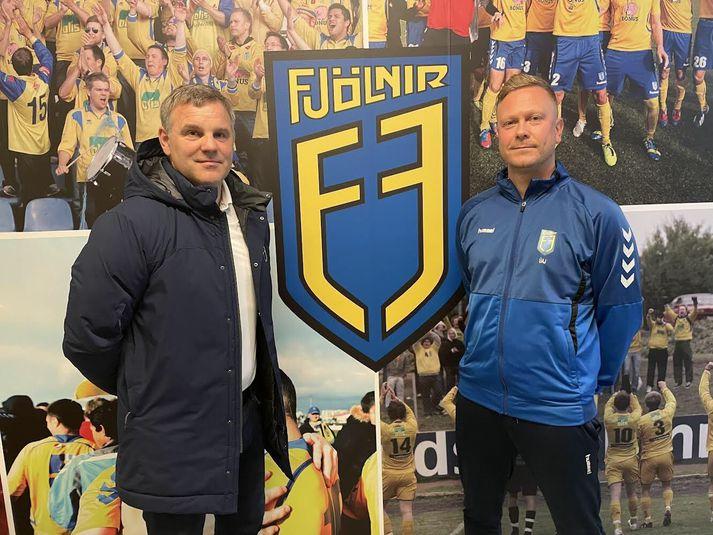 Gunnar Sigurðsson og Úlfur Arnar Jökulsson þjálfa Fjölni á næstu leiktíð.
