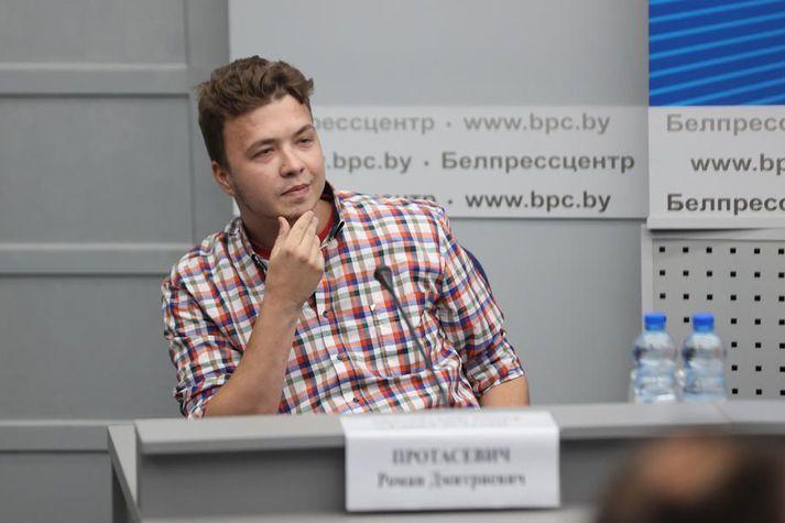 Roman Prótasevits á fundinum í dag.