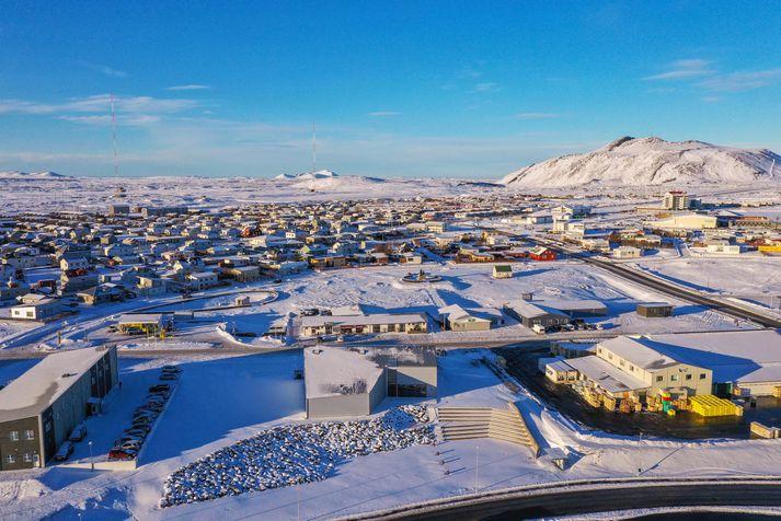 Frá Grindavík en þar hefur verið boðað til íbúafundar í dag vegna landrissins við Þorbjörn.