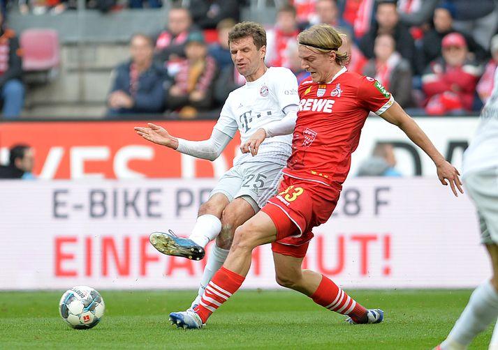 Thomas Müller lagði upp fyrstu tvö mörk Bayern í dag.