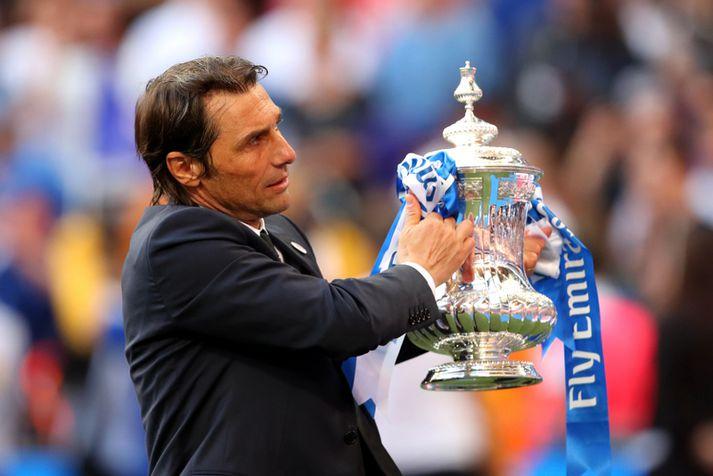 Antonio Conte gerði Chelsea að enskum bikarmeisturum í vor.