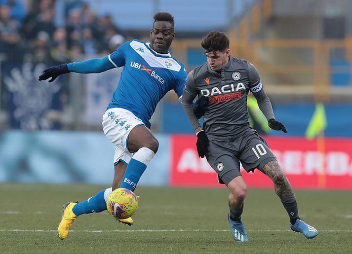 Mario Balotelli í leik með Brescia í vetur.