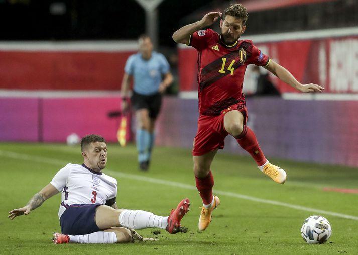 Trippier í leik með enska landsliðinu gegn Belgíu.