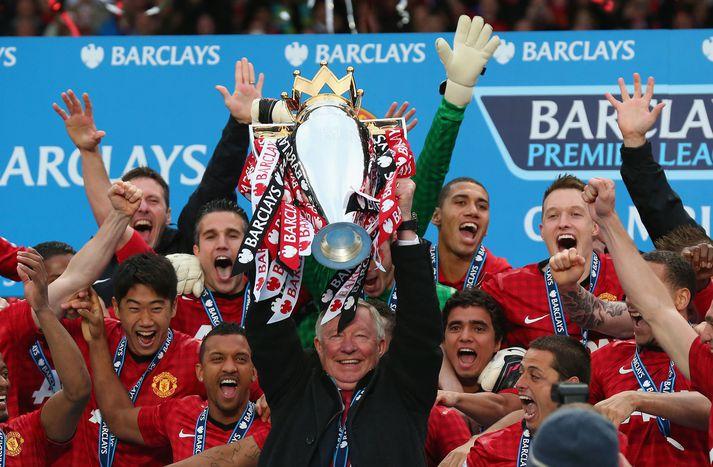 Sir Alex Ferguson gerði Manchester United þrettán sinnum að Englandsmeisturum.