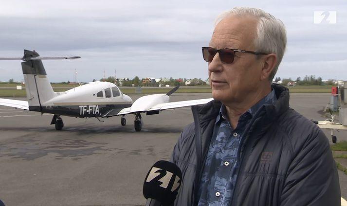 Friðrik Pálsson er áhugamaður um rafvæðingu flugsins.