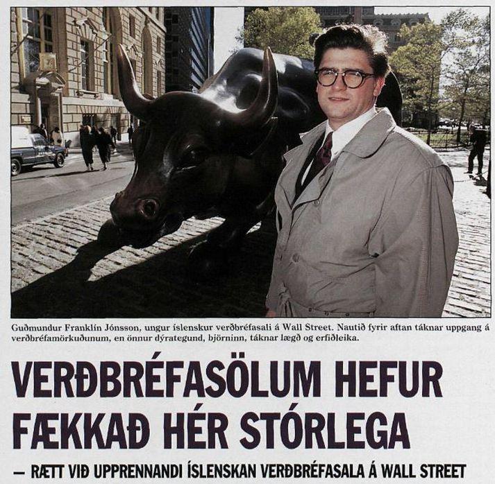 Umfjöllun um Guðmund Franklín í Frjálsri verslun í desember 1990.