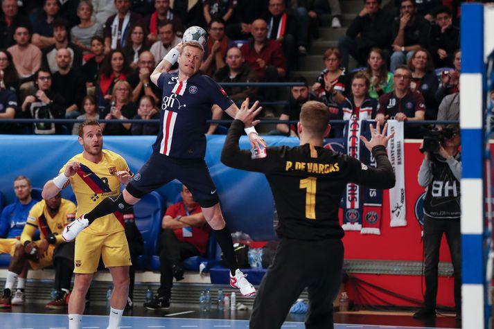Guðjón Valur lauk ferlinum hjá stórliði Paris Saint-Germain.