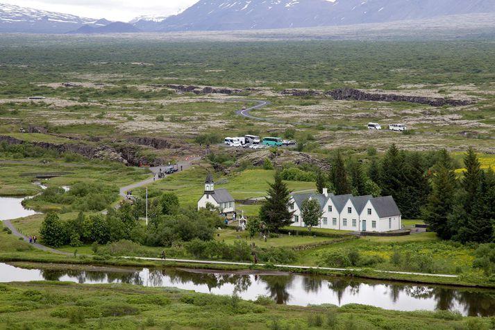 Þingvellir. Þar sem Alþingi kemur saman þann 18. júlí.