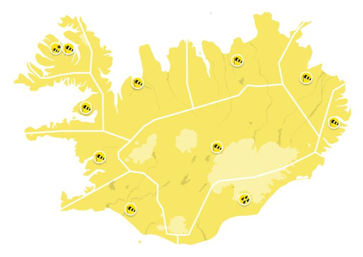 Vindhviður við fjöll gætu farið yfir 40 metra á sekúndu í dag.