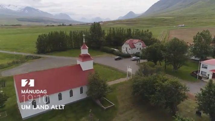 Frá Möðruvöllum í Hörgárdal.