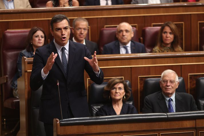 Pedro Sanchez, formaður sósíalistaflokksins.