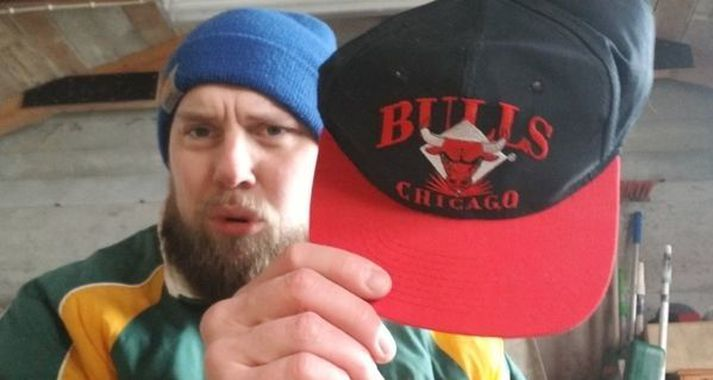 Kári Kristján og Bulls derhúfan góða.
