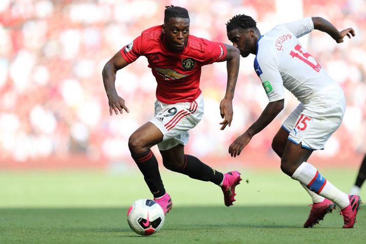 Aaron Wan-Bissaka í leik með Manchester United  á tímabilinu.
