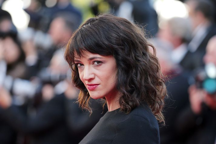 Asia Argento á Cannes-verðlaunahátíðinni í maí síðastliðnum.