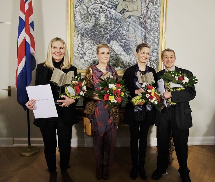 Unnur Jökulsdóttir, Kristín Eiríksdóttir og Áslaug Jónsdóttir eru handhafar Íslensku bókmenntaverðlaunanna fyrir árið 2017.