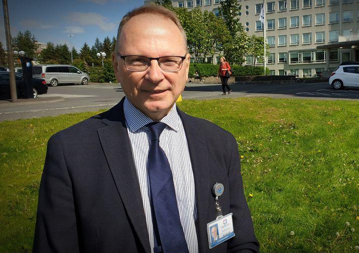 Runólfur Pálsson,forstöðumaður lyflækninga- og endurhæfingarþjónustu Landspítalans og einn yfirmanna ácovid-göngudeild.