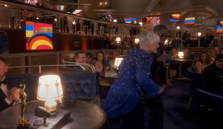 Glenn Close fór á kostum á hátíðinni.