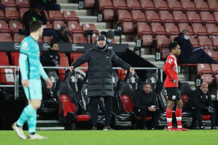 Jürgen Klopp fór mikinn eftir tap Liverpool fyrir Southampton.