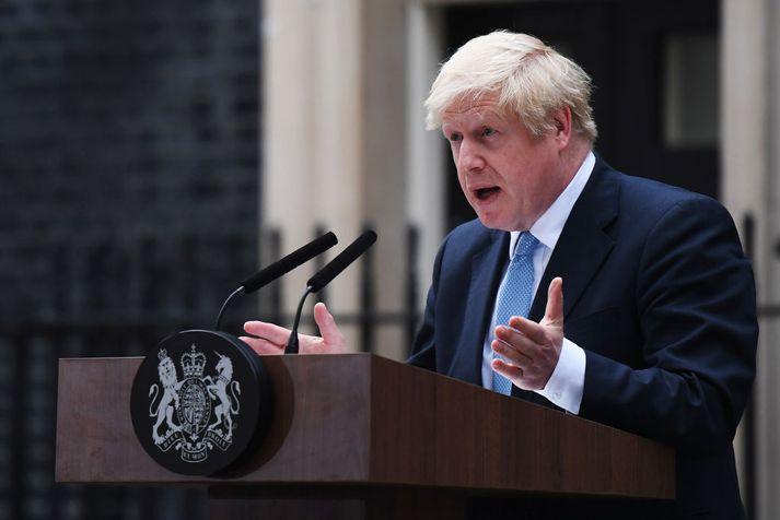 Það er ekki ofsögum sagt að Boris Johnson, formaður Íhaldsflokksins og forsætisráðherra Bretlands, standi í ströngu þessa dagana.