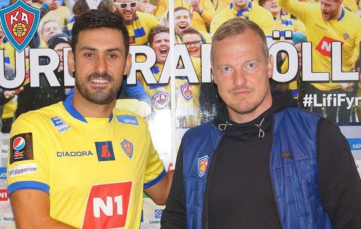 Iosu Villar og Óli Stefán Flóventsson