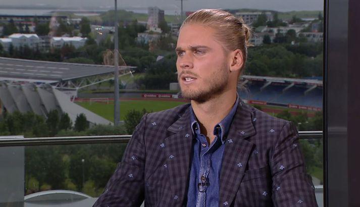 Rúrik Gíslason var gestur í Sumarmessunni á Stöð 2 Sport í sumar.
