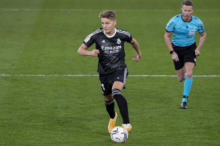 Martin Ödegaard á ferðinni í leik með Real Madrid á móti Villarreal um helgina.