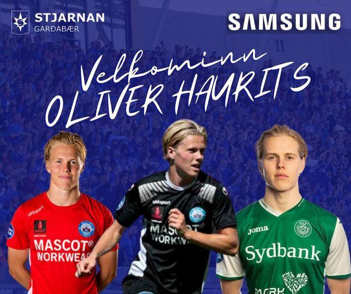 Oliver Haurits var kynntur til leiks á samfélagsmiðlum Stjörnunnar í dag.