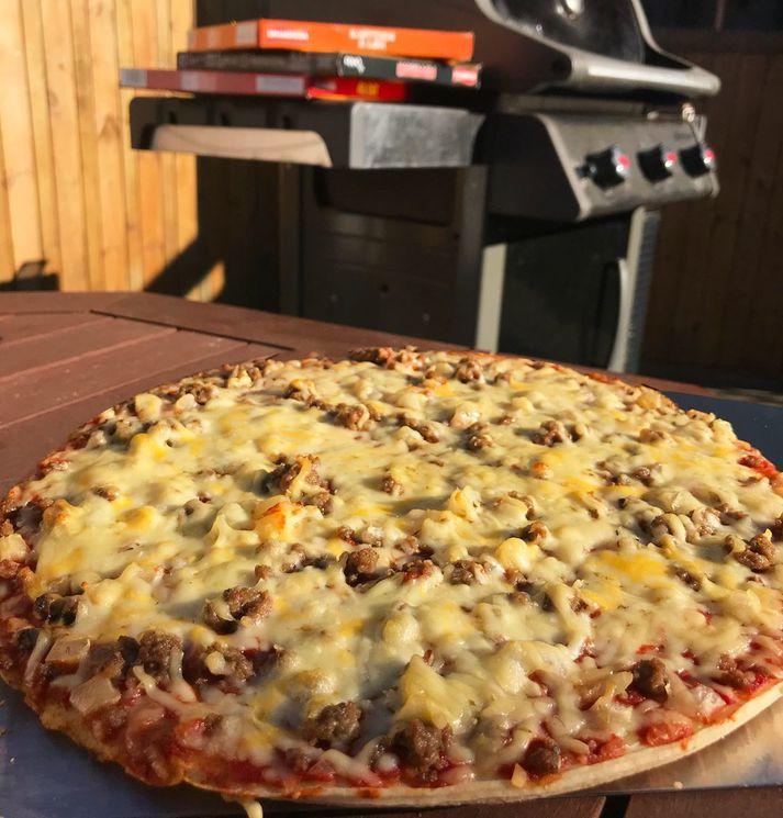 Grandiosa pizzur eru svakalega góðar á grillið í sumar.