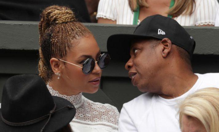Beyoncé með eiginmanni sínum Jay-Z.