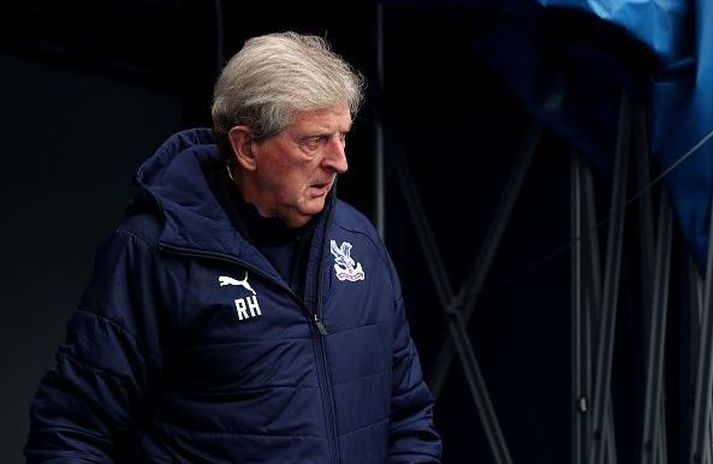 Hodgson yfirgefur Selhurst Park í fússi.