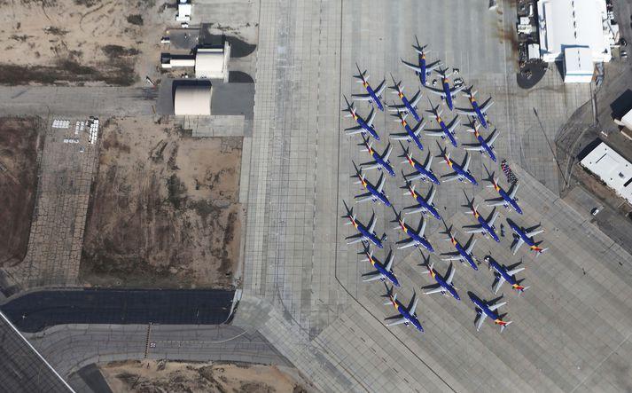 737 MAX þoturnar voru kyrrsettar í kjölfar tveggja mannskæðra flugslysa.