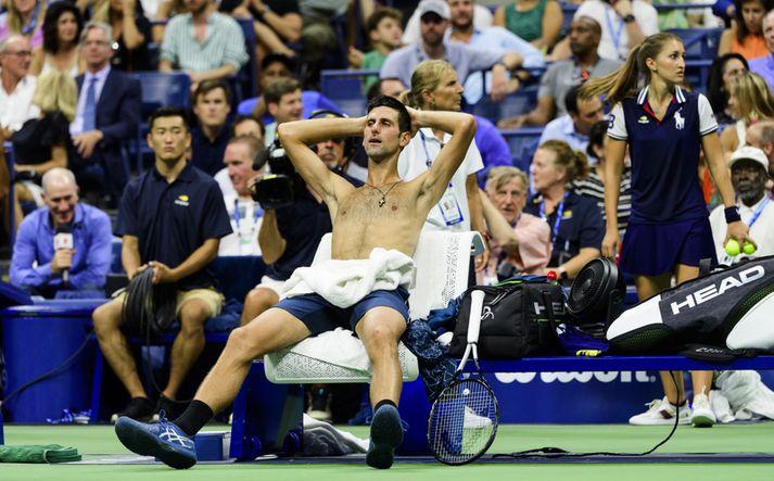 Novak Djokovic hefur verið mjög heitt í leikjum sínum.