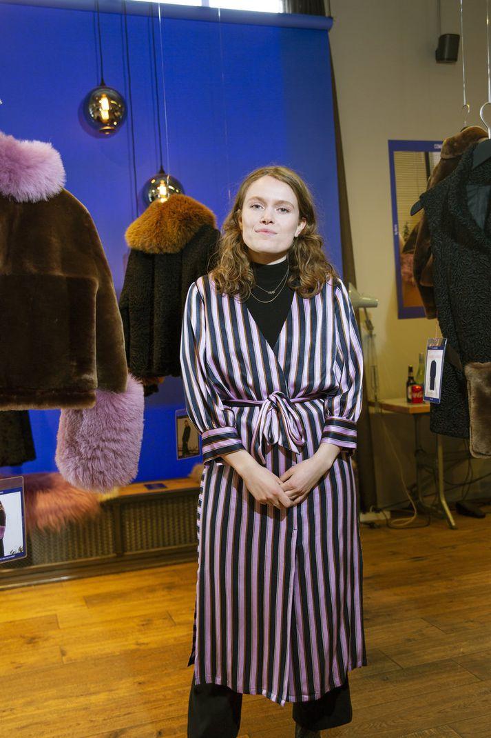 Fatahönnuðurinn Marta Heiðarsdóttir sýndi pelsa á HönnunarMars sem höfðu fengið nýtt líf. Hún útskrifaðist úr fatahönnun frá Design School Kolding, í Danmörku árið 2016.