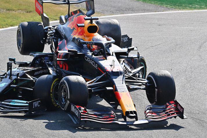 Verstappen endaði ofan á Hamilton.