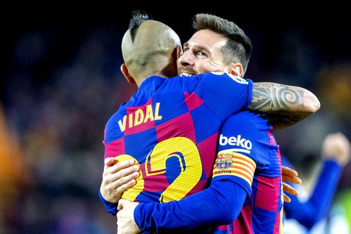 Lionel Messi er á eftir markameti Pele.