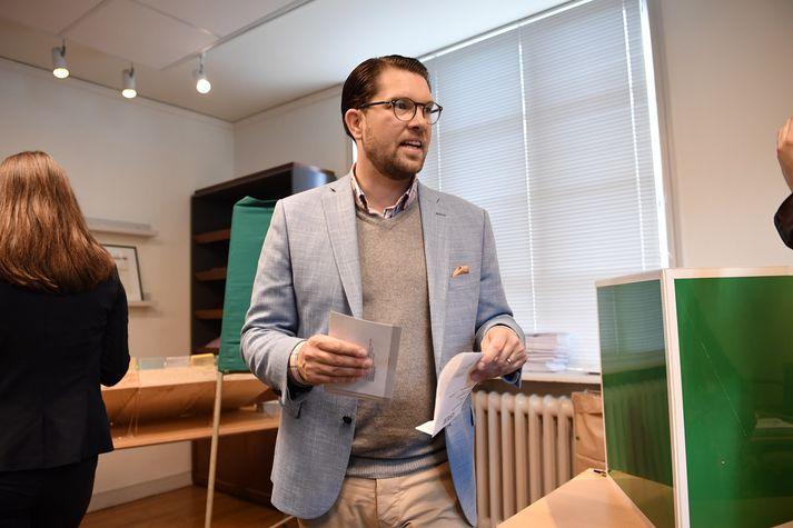 Jimmie Åkesson, formaður Svíþjóðardemókrata