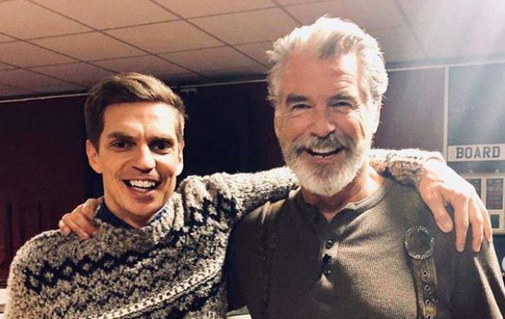 Brosnan og Björn urðu fínir félagar.