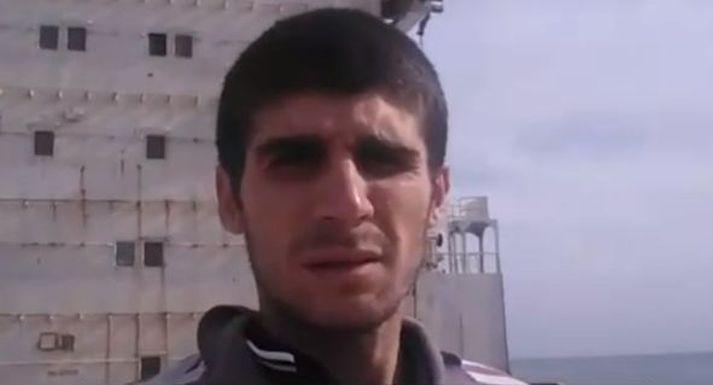 Mohammed Aisha hefur loksins fengið að yfirgefa skipið MV Amman og er farinn aftur heim til Sýrlands.