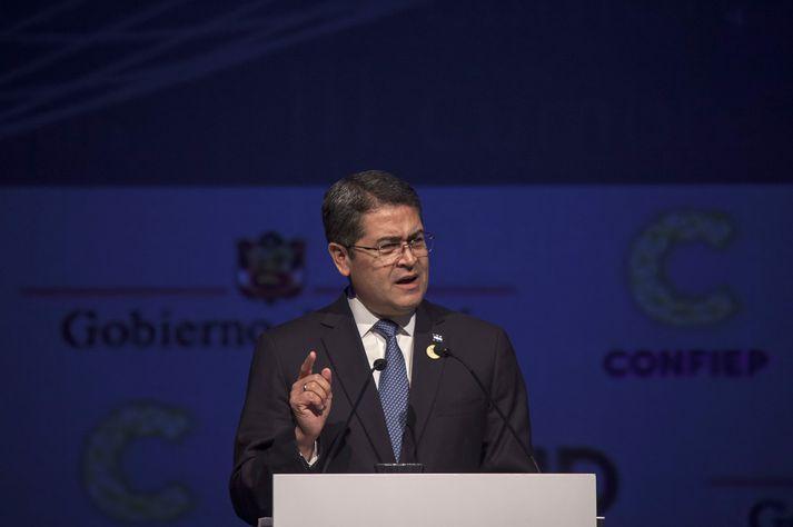 Juan Orlando Hernández tók við embætti forseta Honduras árið 2014.