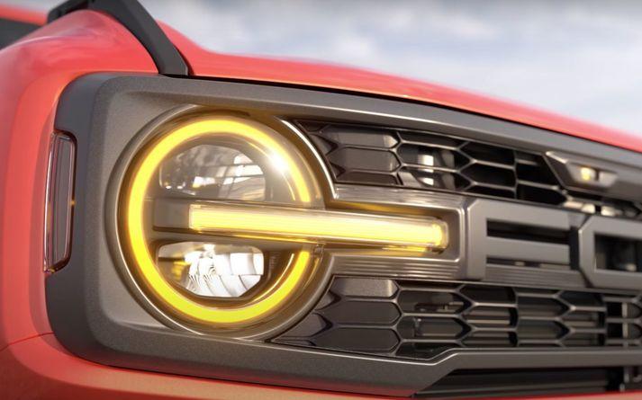 Grillið á Ford Bronco Raptor.