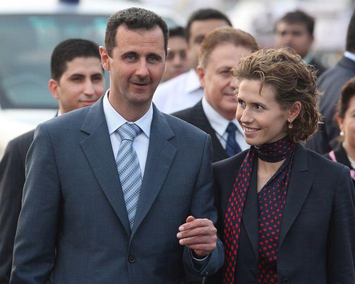 Assad-hjónin árið 2012.