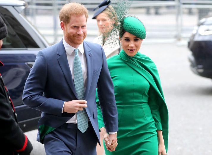 Harry og Meghan á góðri stundu.