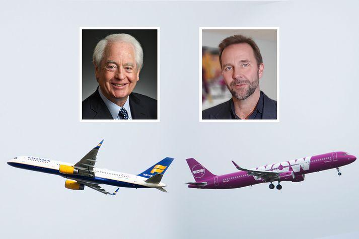 WOW og Indigo funduðu stíft í gær en á meðan styrktist gengi Icelandair.