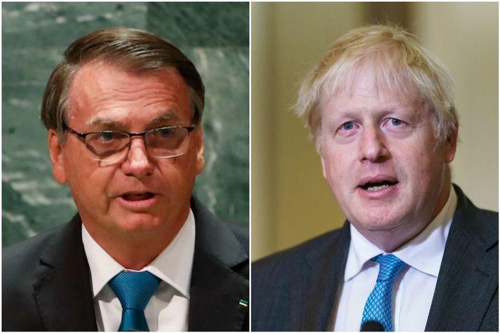 Bolsonaro og Johnson funduðu í New York í vikunni, þar sem síðarnefndi ræddi mikilvægi bólusetninga gegn Covid-19 við kollega sinn.