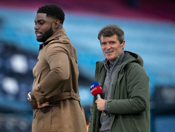 Keane og Richards fyrir leik Man. City og Liverpool fyrr á leiktíðinni.