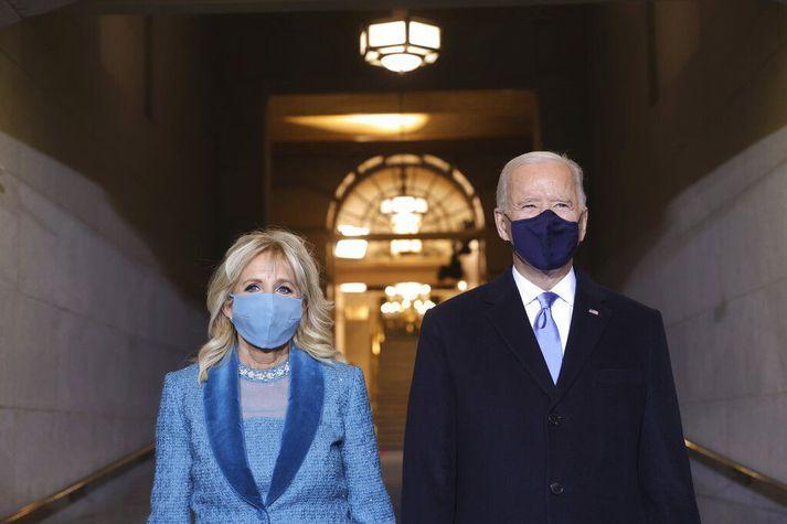 Jill og Joe Biden.