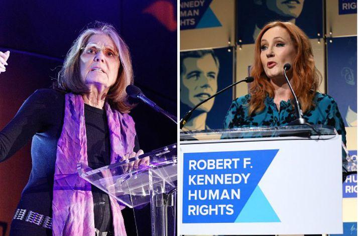 Gloria Steinem og JK Rowling eru á meðal þeirra sem skrifa undir bréfið.