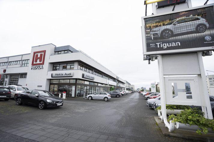 Heklureiturinn á að skila borginni um 350 íbúðum miðsvæðis. Samningaviðræður þokast hægt. Fréttablaðið/Eyþór.